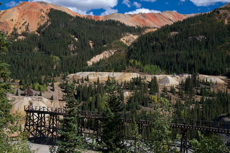 San Juan range Colorado - The Durango & Silverton RR ran to this mine