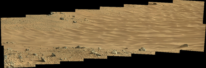 Curiosity Sol 703 MastCam R view of Hidden Valley ( Data NASA/JPL-Caltech/MSSS )