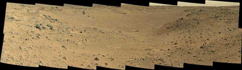 Curiosity Sol 703 MastCamL view of Hidden Valley ( Data NASA/JPL-Caltech/MSSS )