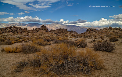 Clearing storm Alabama Hills with Inyo Mtns in background. - 2013