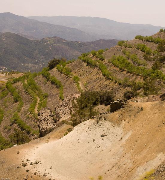 Troodos mountains, the aspestos mine area, Cypros 2008