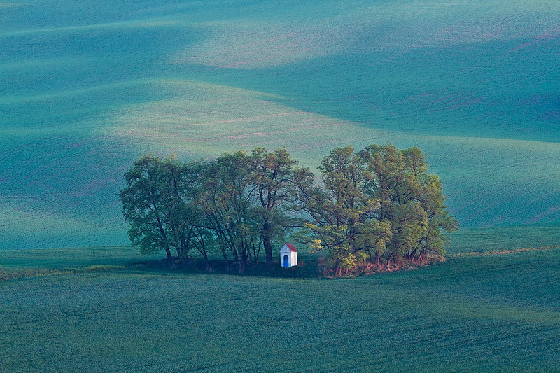 A little chapel in a field, Czech Republic.