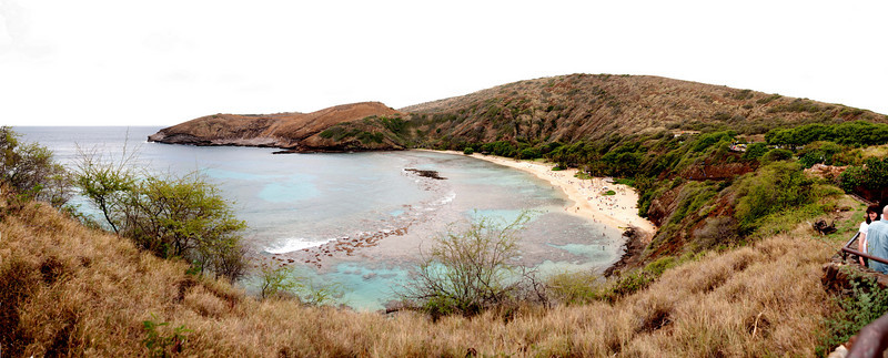 Looking out over Hanauma Bay, Honolulu, Oahu, Hawaii