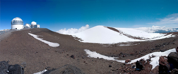 View at the summit of Mauna Kea - looking inside the crater.