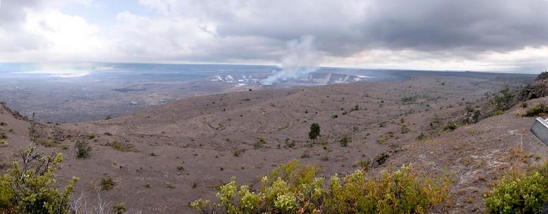 Overlooking Halemaumau crater - from Observatory, Hawaii Volcanoes National Park, Big Island, Hawaii