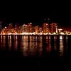 Night skyline - Waikiki, Honolulu, Oahu, Hawasii