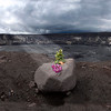 Offering at Halemaumau Crater, Hawaii Volcanoes National Park, Big Island, Hawaii
