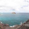 View from Makapu'u Point Lighthouse overlook - towards Makapu'u Beach, Rabbit Island