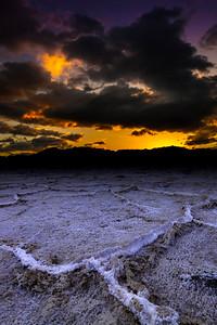 West Side Road Salt Flat Polygons Death Valley Sunrise