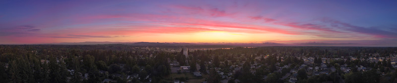 Pano Of Olympia At Sunset