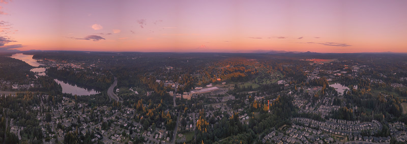Pano Of Capital Lake And Olympia From Tumwater Hill Park