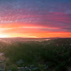 Pano Of Olympia Sunset From Water Tower