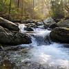 Twentymile Creek flows out of the Smoky Mountains into Cheoah Lake