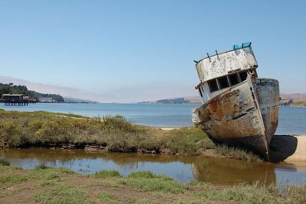 Pt reyes fishing ship Tomales Bay, Marin Headlands, Central California, Coastal California