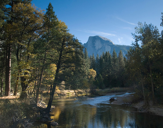 This picture of Half Dome was taken from Sentenial Bridge in October.
