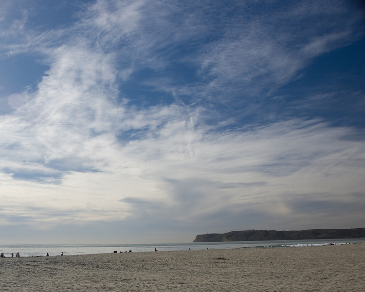 San Diego's Coronado Beach and harbor entrance