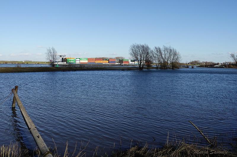 Waal containerschip