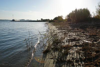 Hier stroomt de rivier