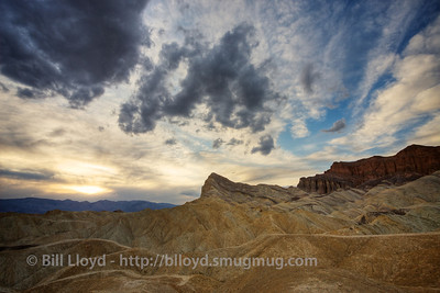Sunset at Zabriskie Point.