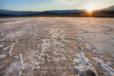 Sunset at Badwater.