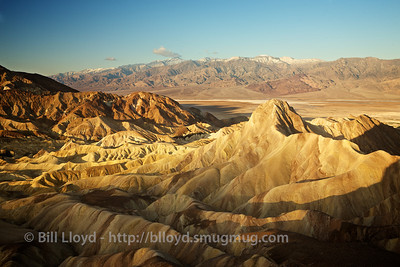 Sunrise at Zabriskie Point.