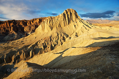 Zabriskie Point at sunset.
