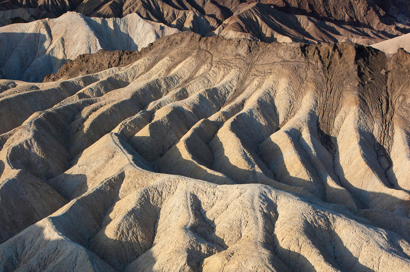 Erosion patterns at Zabriskie Point