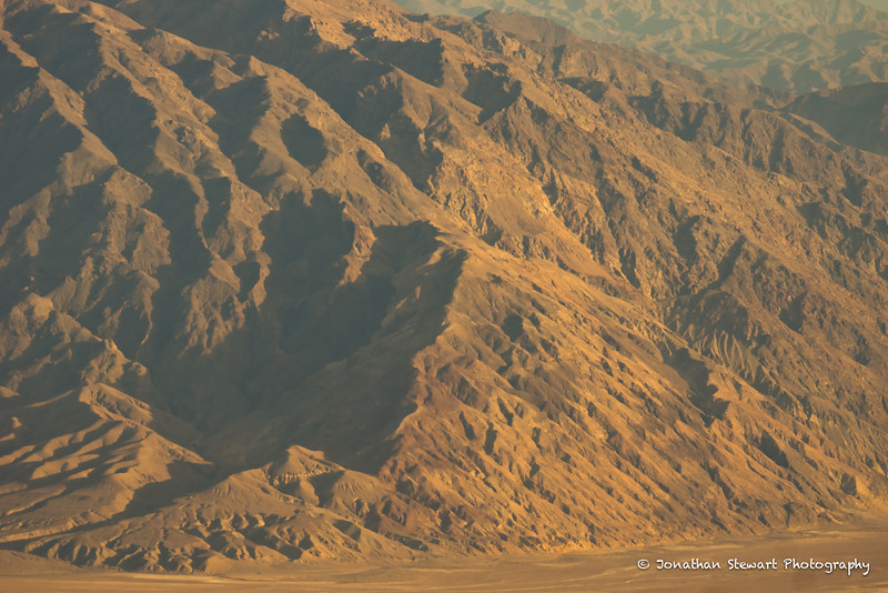 """The Amargosa (""""Bitter"""") Mountains, very close to Badwater, the lowest point in the Western Hemisphere at -282' (-86m)."""