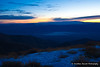 Sunrise over Death Valley, from Telescope Peak.  Spring Range, Nevada in the background.