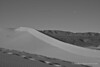B&W edit looking west towards Saline Mountains and the setting moon.