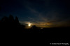 Moonrise and the glow from Furnace Creek