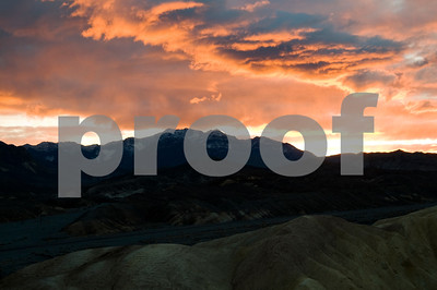 Early Sunrise on Cloud Cover at Zabriskie Point, Death Valley National Park, CA