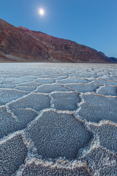 Moonrise, Badwater, Death Valley National Park