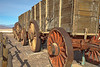 These old wagons were used to transport borax from the mines.