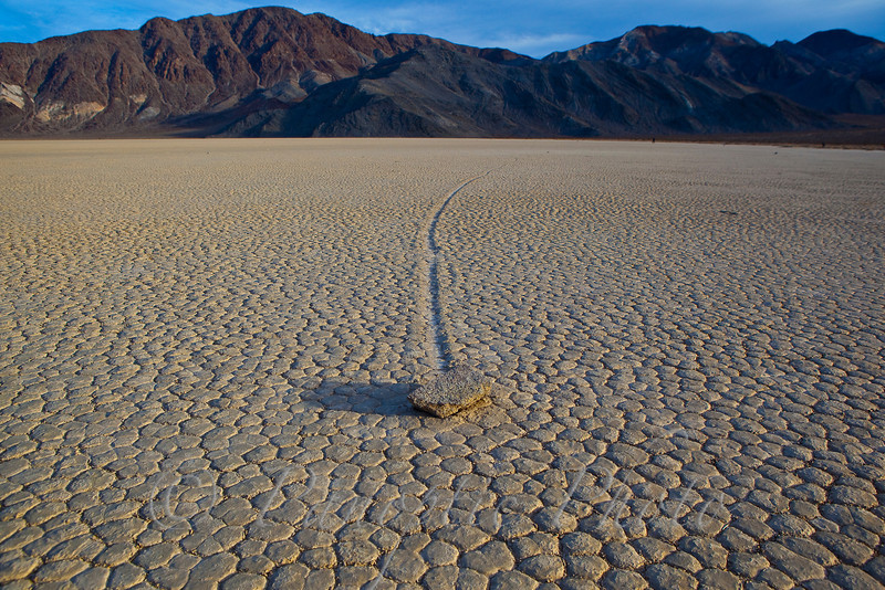 Carving a Path, The Racetrack, Death Valley National Park, California