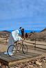 Szukashi Sculpture and bicycle, Rhyolite Ghost Town, Rhyolite, Nevada