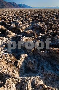 Salt Crystal Formations, Devil's Golf Course, Death Valley National Park, California