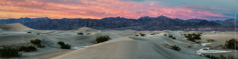 Afterglow at Mesquite Flat Dunes