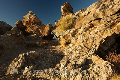 Rock formations atop Aguerreberry Point in Death Valley National Park.