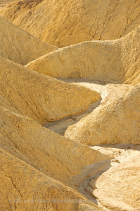 Sandstone formations in Golden Canyon, below Zabriskie Point, Death Valley National Park.
