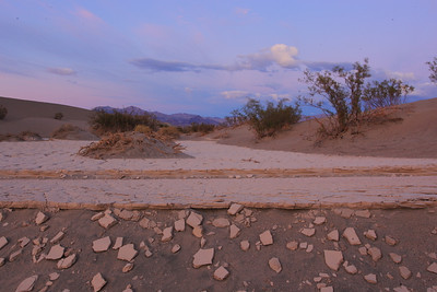 Death Valley Playa and Dunes at Dusk