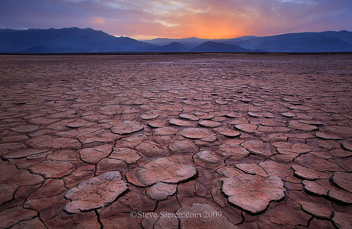 """""""Infinite View"""" sunset on the playa in Death Valley  Death Valley is known for it's vast wide open and expansive landscape scenery.  When you step  onto a playa here it becomes an infinite view."""