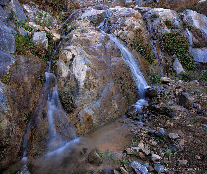 Waterfall in Canyon, Western Death Valley