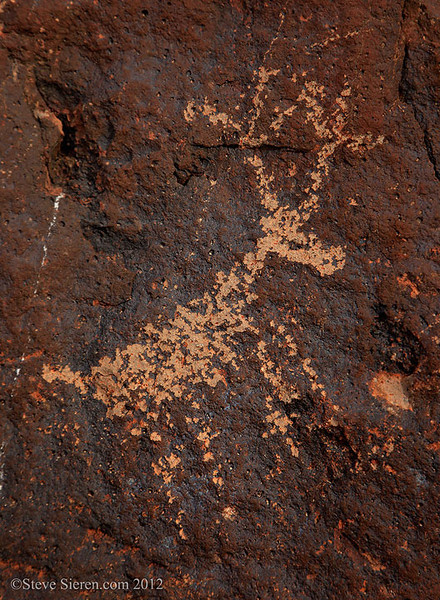 Deer petroglyph in one of Death Valley's Canyons.