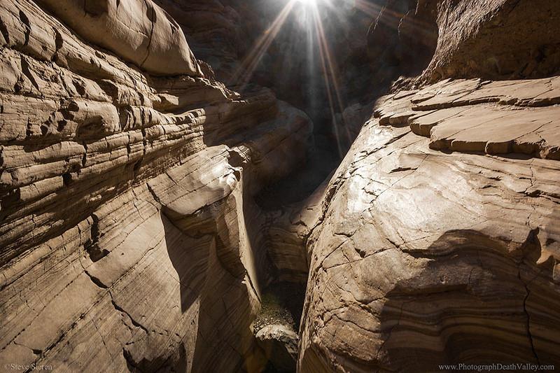 Mosaic Canyon Death Valley Dramitic Light Starburst