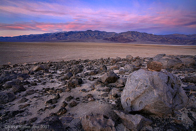 Moon Setting from Mars Hill Death Valley