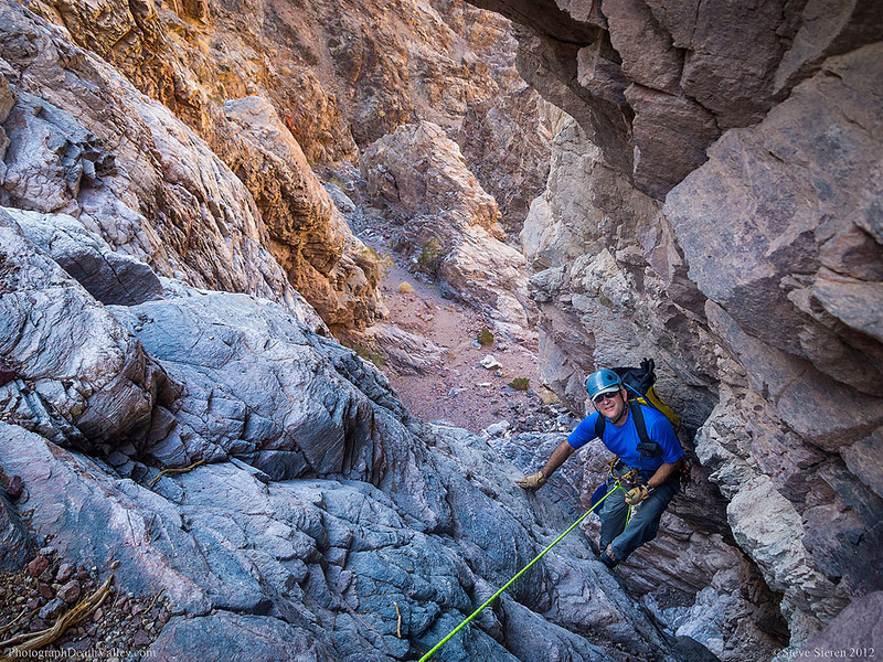 Canyoneering Lower Natural Bridge Canyon in Death Valley.