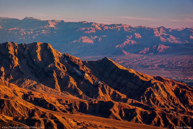 Tucki Mountain Ridgeline and Death Valley Buttes Grapevine Mountains Amoragosa Range