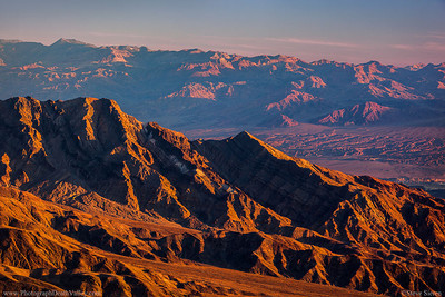 Tucki Mountain Ridgeline and Death Valley Buttes Grapevine Mountains Amoragosa Range