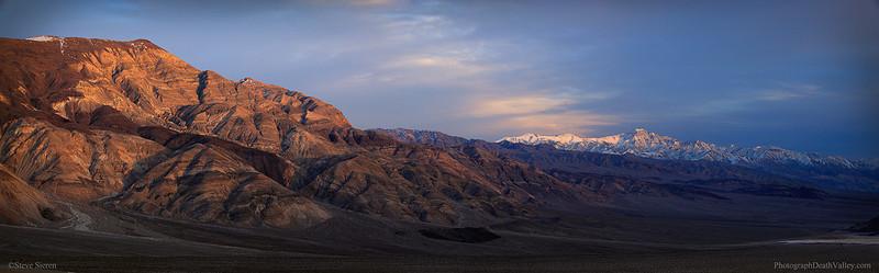 Death Valley Panamint Butte Telescope Peak Panoram